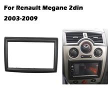 Adaptateur pour voiture pour RENAULT Megane II 2003-2009, panneau de cadre pour voiture, Interface stéréo, panneau de garniture CD, 2 DIN