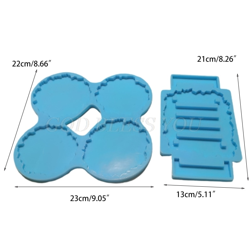 Coaster+Stand Epoxy Resin Mold Set Cup Mat+Holder Silicone Mould DIY Crafts Decorations Making Tools Kit Drop Shipping