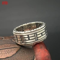 100 925 sterling silver thai silver vintage rotating ring