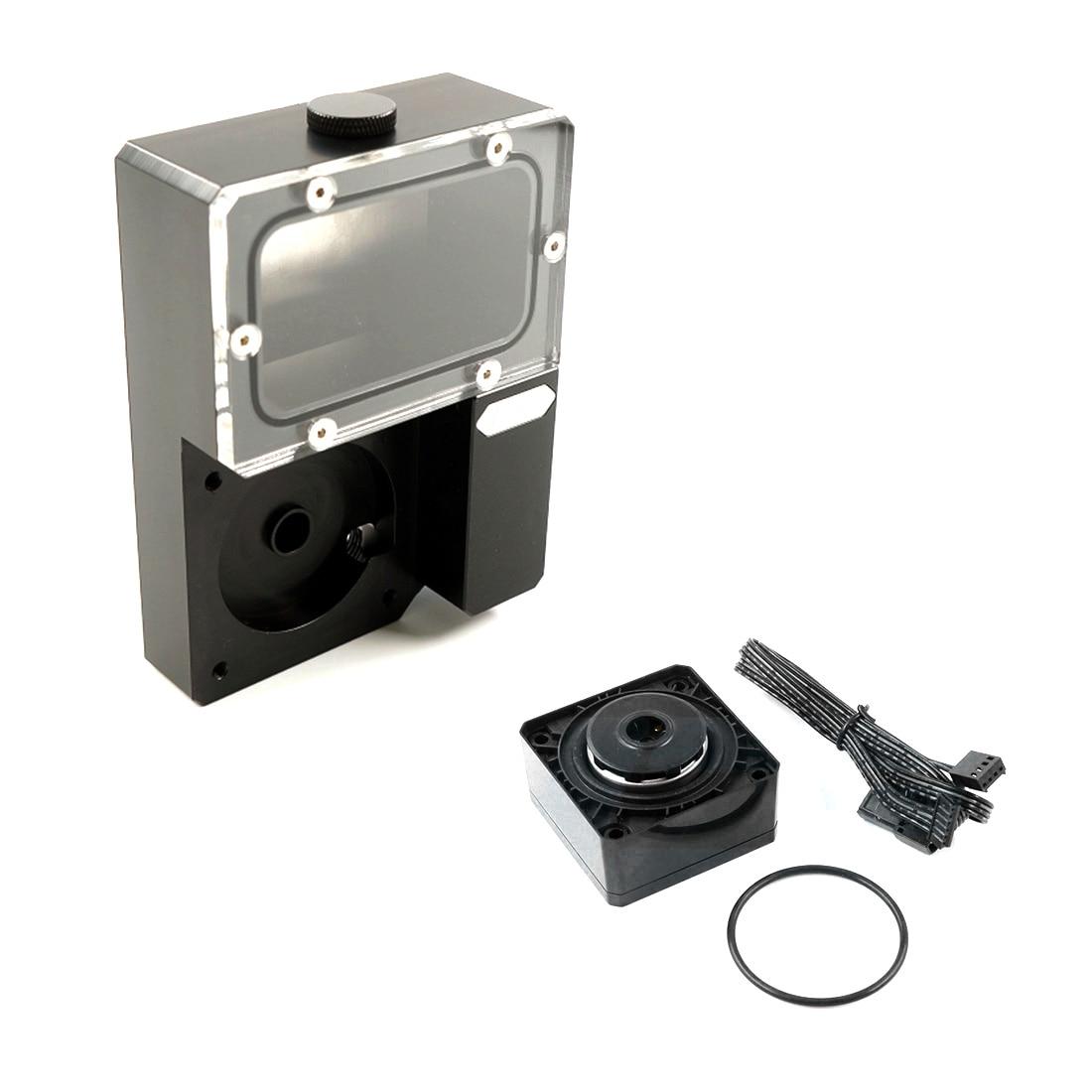 [해외] Ncase-아이스맨 쿨러 DDC 콤보 Res Ncase 저수조, Ncase Chasis M1 V4 V5 V6 용 워터 펌프 포함-블랙