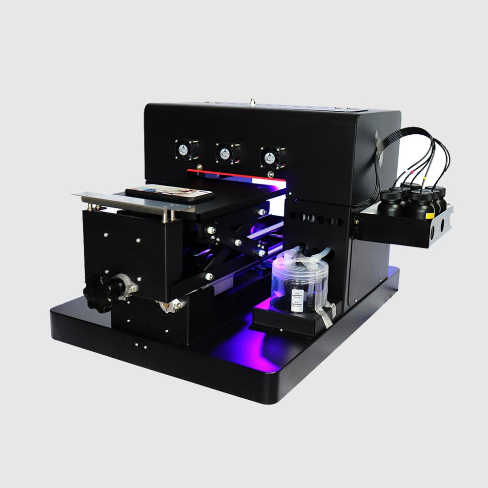 Envío incluye impresora de LED uv tamaño A4 + 1 Juego de tinta uv + limpieza de 500ml + cabezal de impresora adicional + bomba de tinta adicional