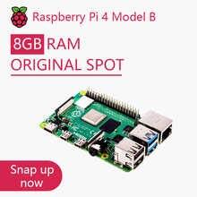 Официальный Оригинальный Raspberry Pi 4 Model B; Комплект платы; Оперативная память 2 ГБ, 4 ГБ, 8 ГБ, 4 ядра, ЦП 1,5 ГГц, 3 скорости, чем Pi 3B +