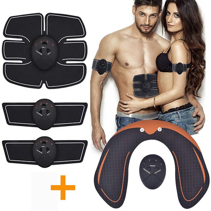 Ems massageador abdominal elétrico para músculo, treinador massageador para emagrecimento, equipamento de ginástica