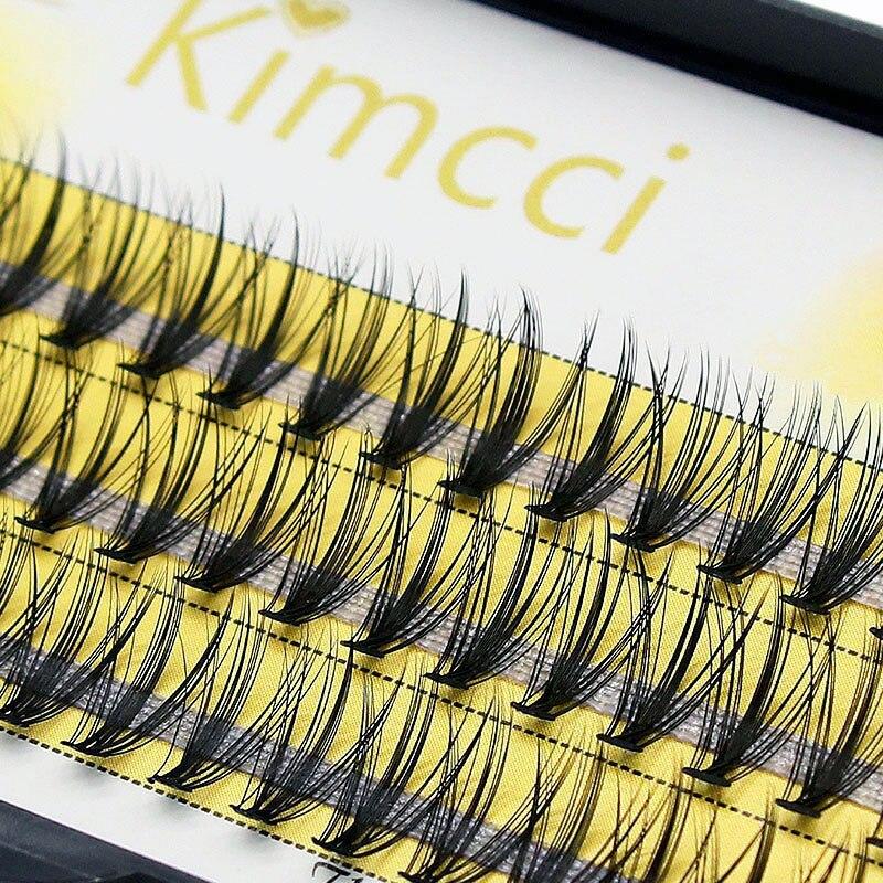 Extensión de pestañas en 3D de mechones naturales de kimci 60 volumen ruso pestañas de visón de imitación individuales en grupo 20D pestañas de maquillaje Cilia superior