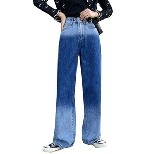 Джинсы женские демисезонные с высокой талией, батальных размеров