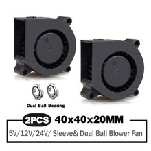 2 pezzi 40mm ventilatore 4020 40x40x20mm ventola di raffreddamento stampante 3D ventola di raffreddamento ventola 5V 12V 24V DC Brushless Turbo ventilatore