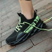 Nouveauté lame semelle hommes baskets maille chaussures décontractées supérieure respirante confortable chaussures amorti haute élasticité Zapatillas