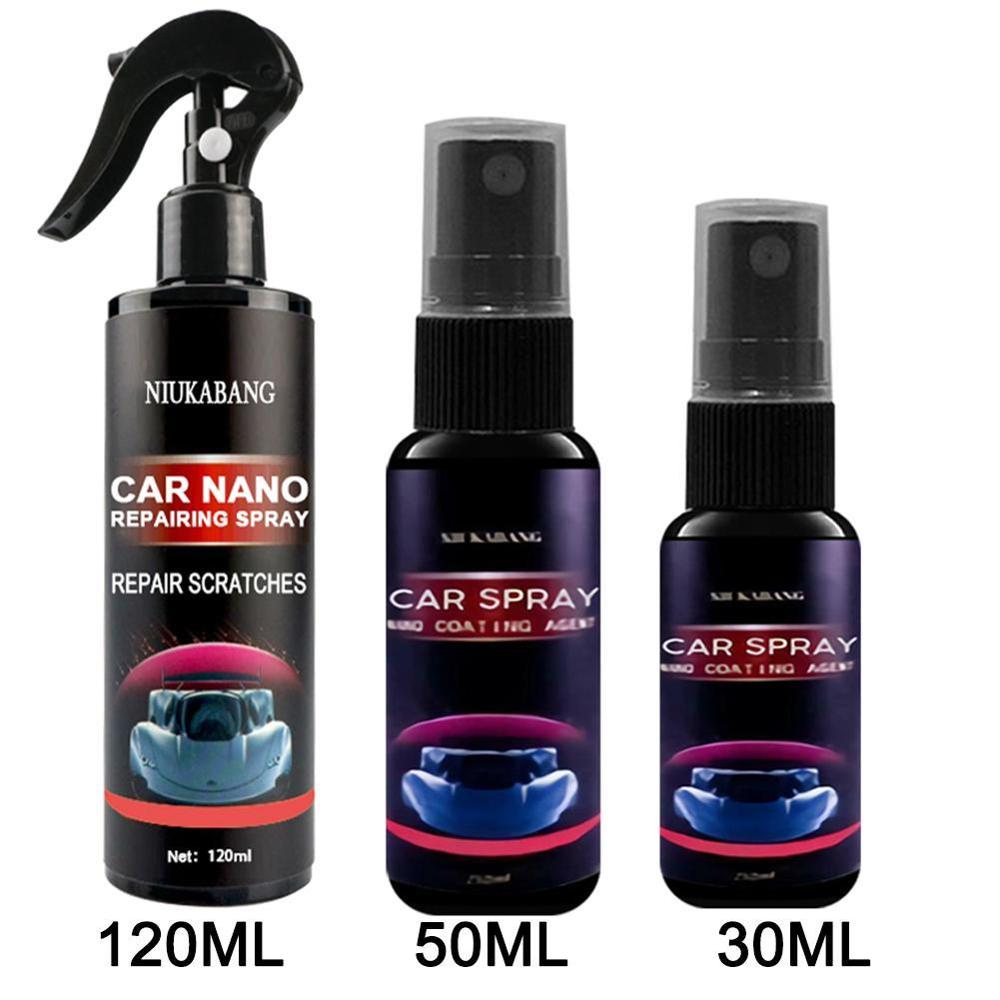 Car Scratch Repair Nano Spray 30/50/120ml Anti Scratch Spray Crystal Coating Auto Lacquer Paint Care Polished Glass Coating