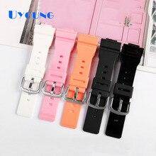 Bracelet de montre en Silicone BABY-G Casio BGD-500/560/501/140 montre étanche avec accessoire de remplacement bracelet de montre en caoutchouc 14mm pour femmes