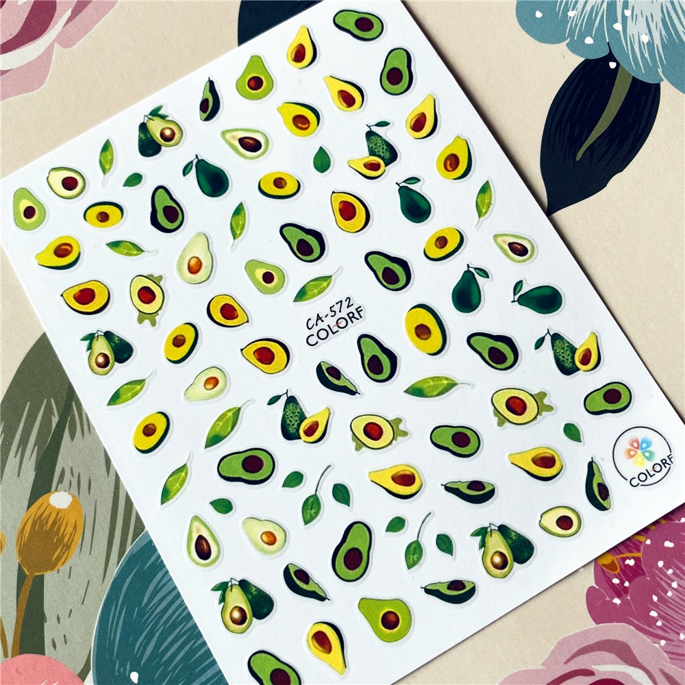 fruit avocado shea nut watermelon series 3d back glue nail decal nail sticker nail decoration nail art nail tool nail ornament Fruit Avocado Shea nut Watermelon series 3D Back glue Nail decal Nail sticker Nail decoration Nail art Nail tool Nail ornament
