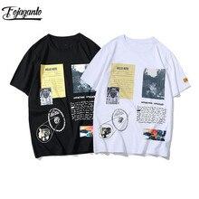 FOJAGANTO Fashion Brand Male T Shirt 2020 Summer Mens Hip Hop Short Sleeve T-Shirts Male Streetwear Short Sleeve T Shirt Top