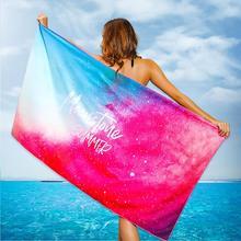 Women Flamingo Fish Leaf Print Swim Quick Dry Blanket Large Soft Beach Towel