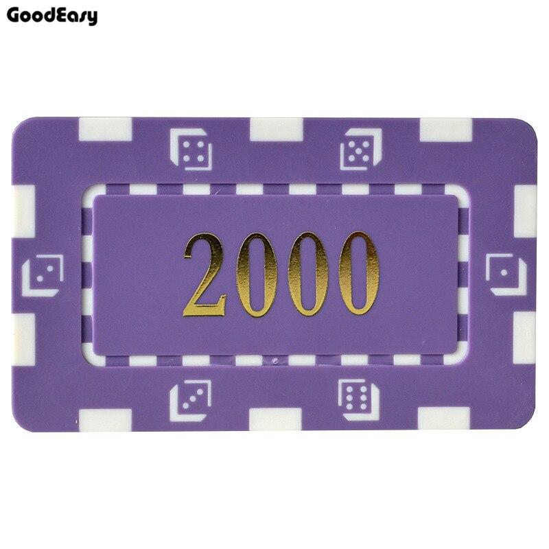 25 unids/lote de fichas de póquer cuadradas con dorado de alta calidad 32g de hierro/fichas de póquer de ABS entretenimiento Chip de inserción de Metal