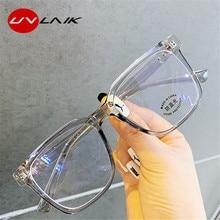 UVLAIK Anti lumière bleue femmes hommes monture lunettes carré myopie cadres lunettes montures dames Transparent optique lunettes