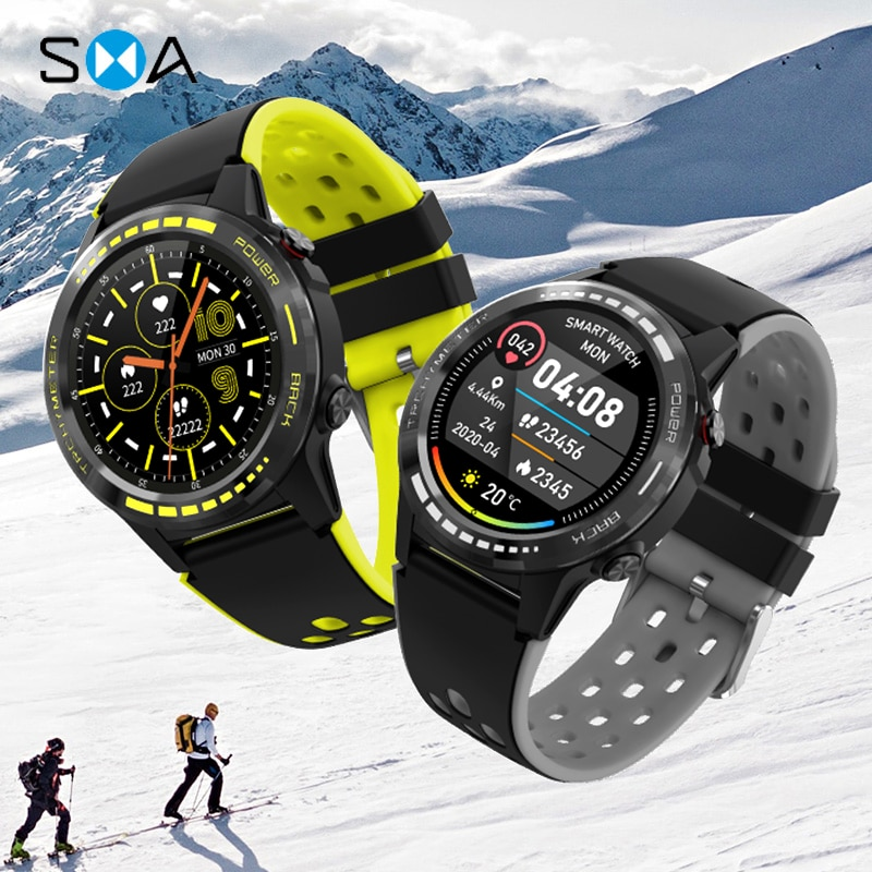 SMAWATCH M7C Smart Watch Smartwatch GPS Men Women 2021 Compass Barometer Altitude Full Touch Fitness Outdoor Watches