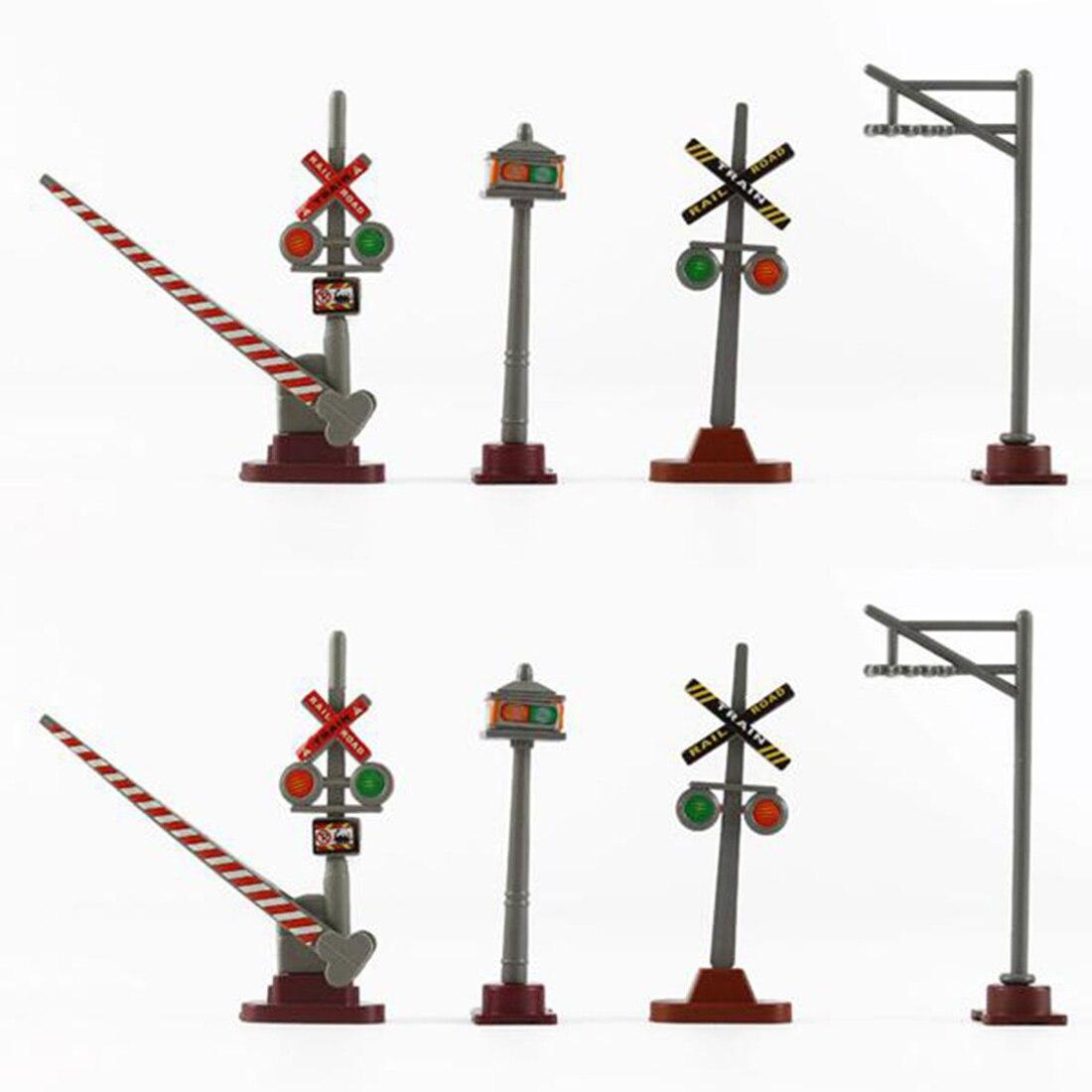 8Pcs Gelegentliche typ 1: 87 HO Skala Eisenbahn Szene Dekoration Verkehrs Zeichen Modell für Sand Tabelle Gebäude
