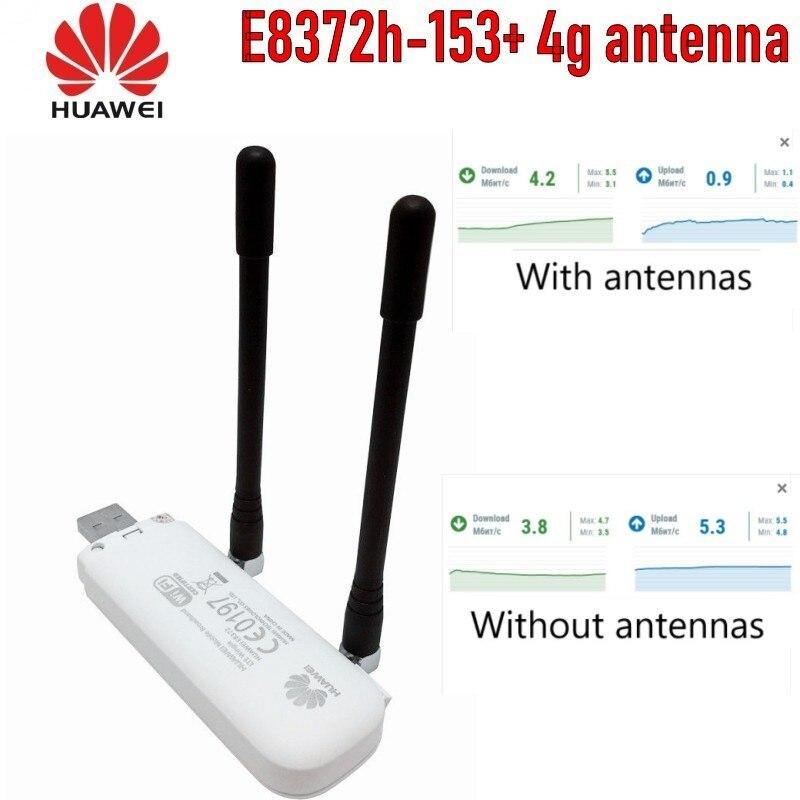 Huawei E8372 E8372H-153 4G wifi stick con 2 uds antena