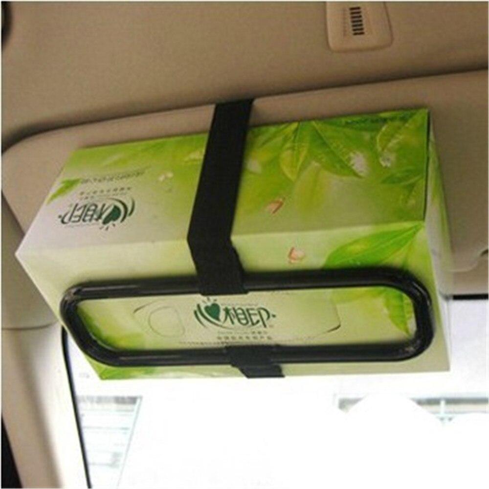 2020 New High Quality Universal Car Tissue Box Tissue Box Concise Sun visor Tissue Box Car Interior Products Car Accessories