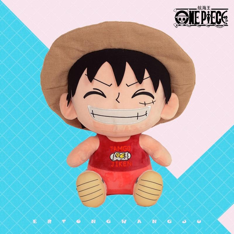 Authorized Anime One Piece  Plush Toys Genuine Cartoon Figures Monkey D Luffy Stuffed Dolls  Funny Gift for Children 25/30CM