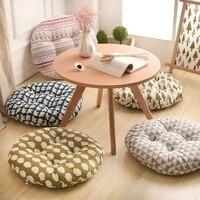 round shape 2 size seat cushion silk cotton core cotton polyester tatami cushion pillow home decoration car soft sofa cushion