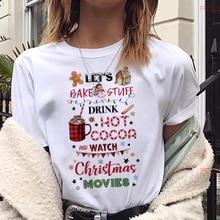Maycaur t-shirt femme à la mode, mignon, noël Kawaii