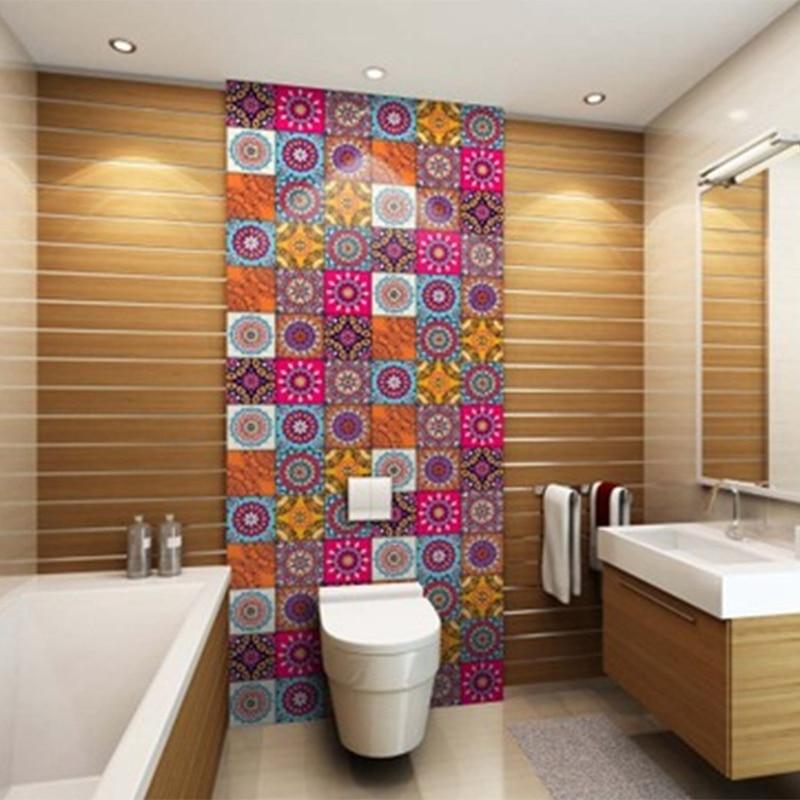 Papel pintado Retro de Pvc de estilo marroquí para sala de estar, dormitorio, pegatinas de pared, pegatinas impermeables a prueba de aceite para cocina o baño