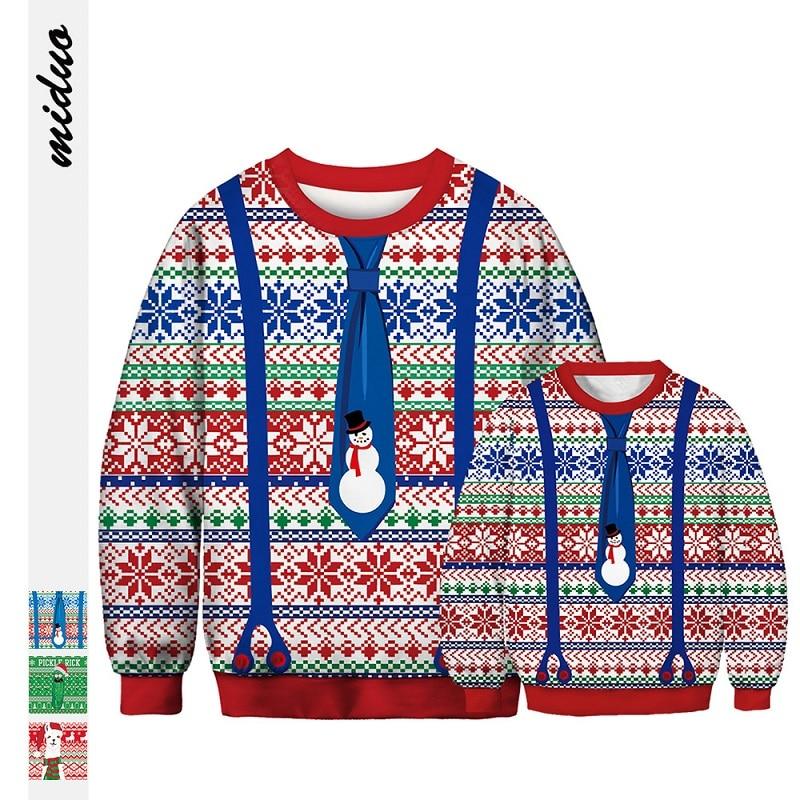 Nuevos trajes de Navidad a juego, suéteres de invierno, ropa para padres e hijos, sudaderas para padre e hijo, ropa para papá, bebés, mamá y niños