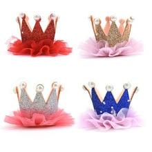 Bandeau couronne paillettes doré princesse 1 pièce   Accessoires de cheveux mignons pour filles, bandeau de princesse, décoration de fête danniversaire pour enfants