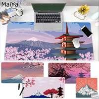 Japanese pink cherry blossom Mount Fuji крутая игровая мышь для ноутбука, Размер коврика для мыши для игроков CSGO, настольного ПК, ноутбука
