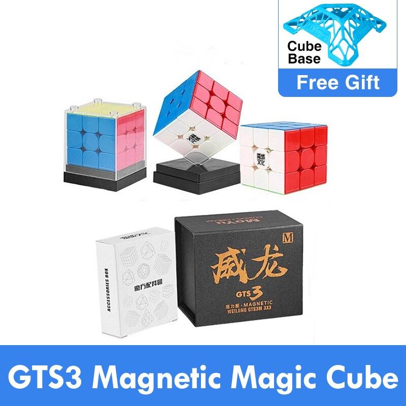 Neo Cube GTS3M MoYu Weilong GTS V2 V3 M 3x3x3 Magnetischen Zauberwürfel Puzzle GTS 3 M 3x3 GTS2 M Geschwindigkeit cubo magico eudcation Kinder spielzeug