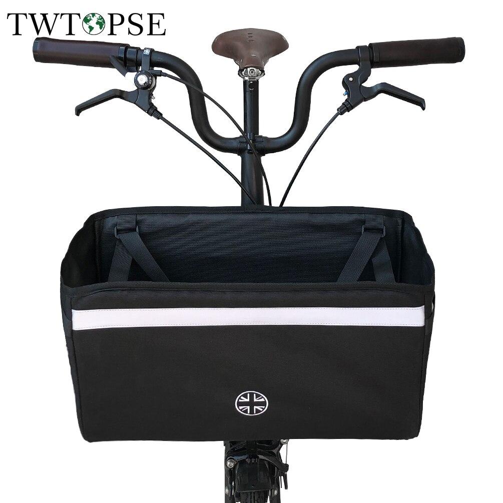 TWTOPSE drapeau britannique vélo panier sac pour Brompton pliant vélo vélo sac avec housse de pluie cyclisme vélo sacs 3 soixante accessoire
