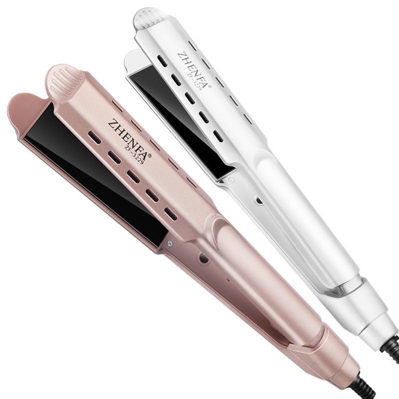 Lazy Hair Straightener Negative Ion Hair Care Corrugated Curl Negative Ion Hair Straightener D ual-p