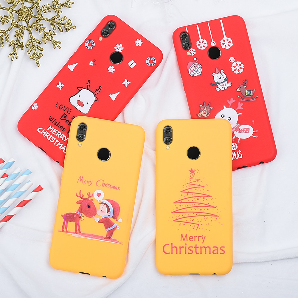 Nuevo Año Navidad festiva Santa Claus funda para Huawei P30 P20 Lite funda de teléfono Honor 8X20 10 Lite cubierta de patrón de dibujos animados 9X Pro