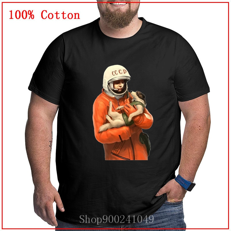Espacio soviético Gagarin Ussr Cccp Camiseta estilo Normal de verano cómodo y transpirable popular impreso camiseta de gran tamaño camisetas hombres