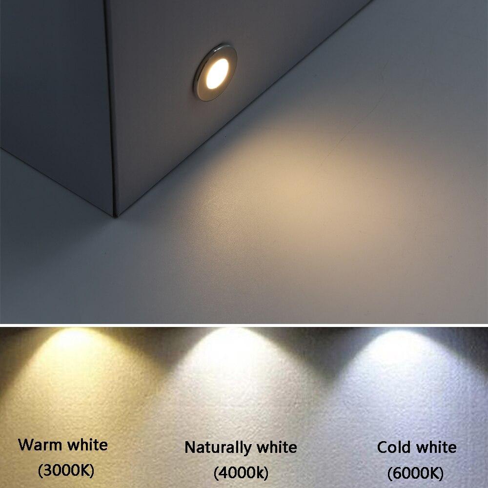 1W Mini llevo la luz subterranea IP67 impermeable en suelo lampara 12V terreno de exterior cubierta Luz de escalera de enlarge