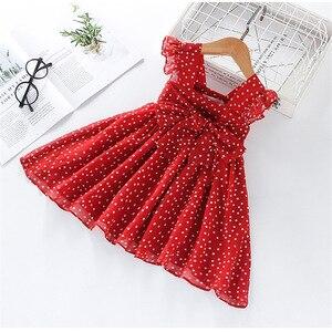 Girls Dress 2021 Summer New Dress for Girls Sleeveless Chiffon Polka Dot Dress Princess Dress Girl Toddler Dress Girls Clothes