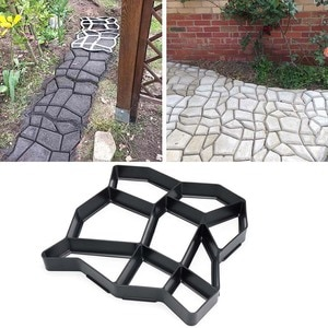 Садовая Пластиковая форма для создания дорожек, модель дорожек, бетонный шаговый камень, цементная форма, кирпич FBS889