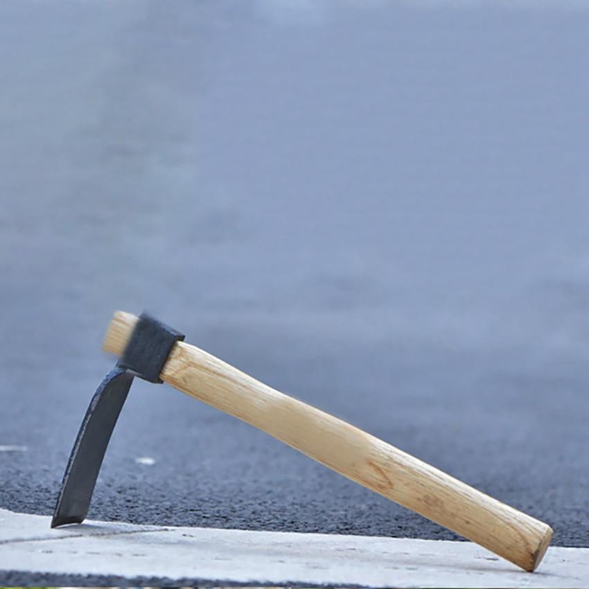 1 шт. мотыга с деревянной ручкой Портативный ручной садовый инструмент Сталь