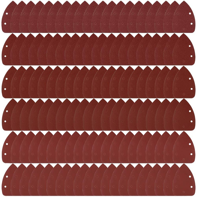 120 Pack Mouse Detail Sandpaper - Includes 40, 60, 80, 120, 180, and 240 Grits, Hook and Loop, 5 Hole