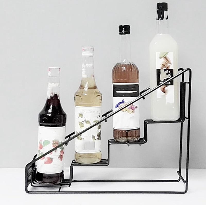 Arriba!-4 botella de Diplay Rack/Monin estante para sirope café, Rack de almacenamiento de té de la leche de la Copa estante de exhibición