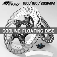 mtb dh 6 inch 160180 203mm disc brake rotor cooling downhill brake rotor bicycle floating iiipro