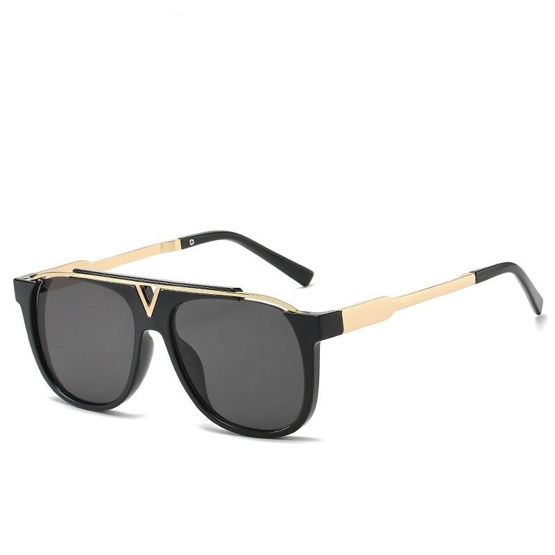 Новые стильные мужские солнцезащитные очки 2157 крутые женские солнцезащитные очки модные солнцезащитные очки в стиле ретро с V-образной опр...