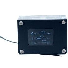 PC Water Cooler ligent Computer Flow Speed Temperature Detection Water Cooler Flow Meter. LSJ-ZN