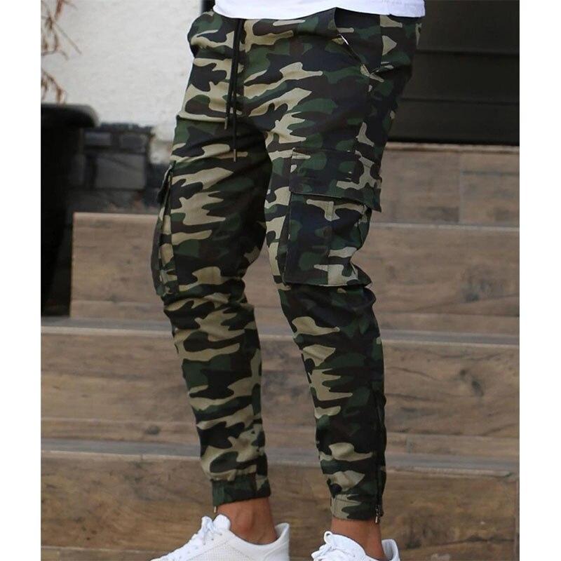 Брюки мужские камуфляжные в стиле милитари, брюки-султанки-карандаш, удобные джоггеры, весна-осень 2021