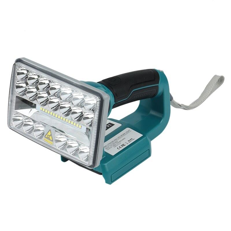 5 بوصة 18 فولت مصباح ليد جيب في الهواء الطلق الأضواء الخفيفة لماكيتا BL1430 BL1830 بطارية ليثيوم USB الإضاءة في الهواء الطلق مع USB