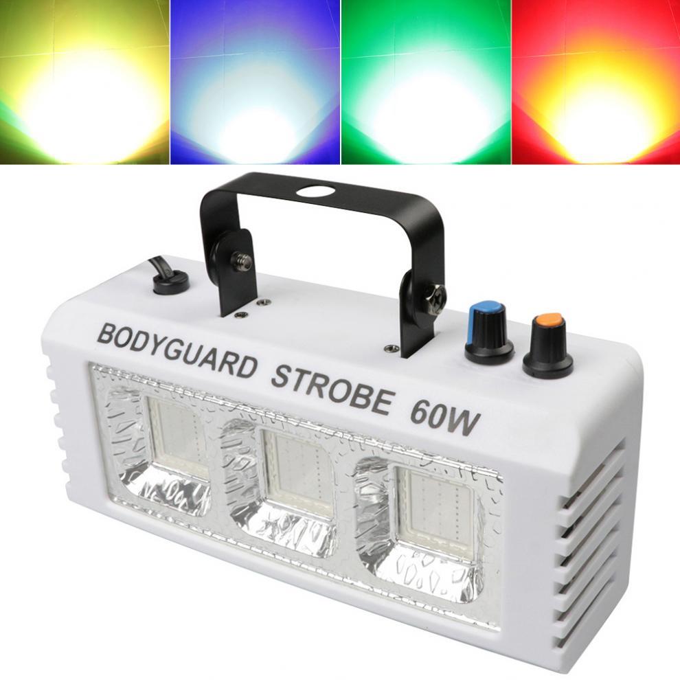 luz colorida mini strobe luz efeito de palco luz com controle de voz automotor piscando