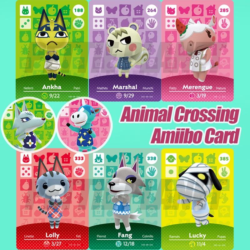 Animal Crossing Amiibo Karte New Horizons Spiel Amiibo Karte Für NS Schalter 3DS Spiel Lobo Karte Set NFC Karten Heißen villager Marschall