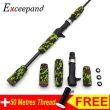 Exceepand Green Camo Casting Fishing Rod Building EVA Handle Kit