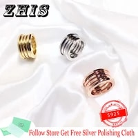 original s925 silver zero ring for lovers wide spring spiral shape fashion ring engagement ring rome logo luxury brand jewelry