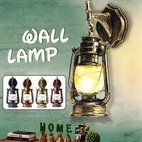 Lampe retro europeenne Vintage en kerosene  luminaire decoratif dinterieur  ideal pour un Bar  un cafe ou une salle de bain  E27